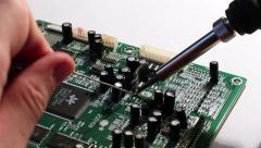 Technical Electronics Soldering 5 Stock Footage