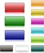 colorful square buttons blank - stock illustration