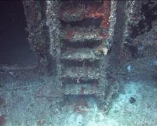Cuba Atlantic Ocean Russian Fregate, 0247 Stock Footage