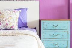 Pillow in bedroom Stock Photos