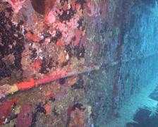 Cuba Atlantic Ocean Russian Fregate, 0250 Stock Footage