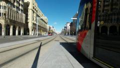 Tram trails Stock Footage