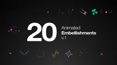 Stock After Effects of Animated Embellishments V1