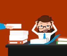 Busy businessman - stock illustration
