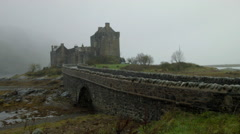 Eilean Donan Castle, walkway with castle Stock Footage