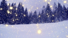 4k, New Year,christmas,3d winter background Stock Footage