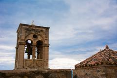 Steeple of a Church, Monemvasia,Greece - stock photo