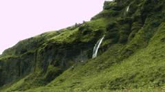 Seljalandsfoss Waterfall in Iceland Stock Footage