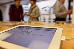 iPad, Apple Store - stock photo