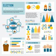 Election Icon Infographic Stock Illustration