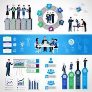 Teamwork Infographic Set - stock illustration