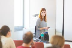 Lecture at university. Stock Photos