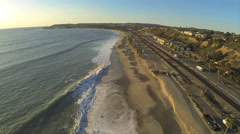 Southern California Beach Dana Point Aireal Stock Footage