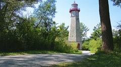 Lighthouse Toronto Island 01svv Stock Footage
