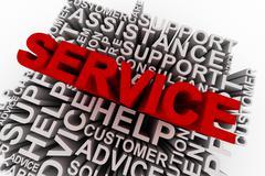 Service concept words - stock illustration