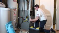 Furnace Repair Stock Footage