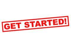GET STARTED! Stock Illustration