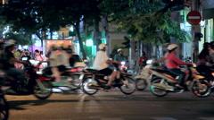 Saigon Vietnam asia traffic  evening Stock Footage
