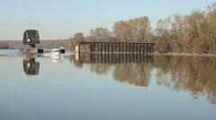 Fraser River Boat Traffic - stock footage