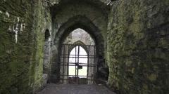 Trim Castle Gates Ireland Stock Footage