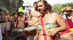 Street Carnival of Rio de Janeiro # 12 Stock Footage
