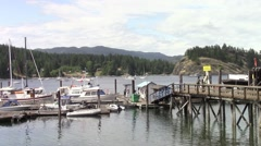 Heriot Bay on Quadra Island, Vancouver Island, British Columbia, Canada Stock Footage