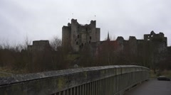 Trim Braveheart Castle Ireland Stock Footage