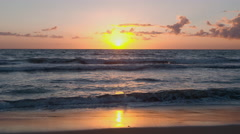 Pacific Beach Sunset - stock footage