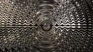 Stock Video Footage of monochromatic circular zig-zags