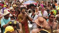 Street Carnival of Rio de Janeiro # 07 Stock Footage