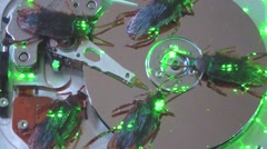 Infected hard drive Stock Footage