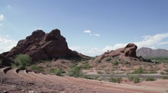 Papago Park McDowell Rd Stock Footage