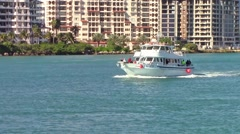 Reward Fishing Boat Leaving Government Cut Clip 1 Stock Footage