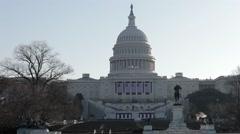 US Capitol Building Tele - stock footage
