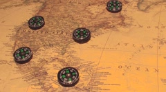 Compass crazy magnetics Stock Footage