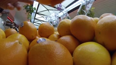 Oranges squeezed Stock Footage
