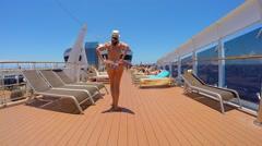 Cruise Ship in Brazil Coast Stock Footage