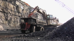 Mining - Truck Loading3 Stock Footage