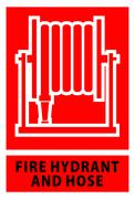 Fire hose reel sign and symbol Stock Illustration