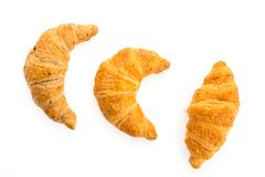 Croissant isolated on white background Stock Photos