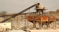 A large rock crusher Stock Footage