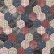 Patchwork Quilt Hexagon pattern Stock Photos