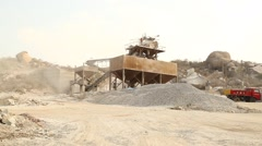 Stock Video Footage of A large rock crusher