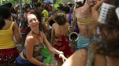 Street Carnival of Rio de Janeiro # 01 Stock Footage