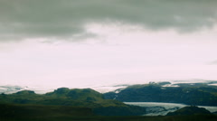 Mounatin Horizon with Glacier Edge in Iceland Stock Footage