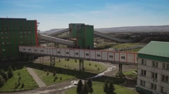 Pan of concentrating factory - stock footage
