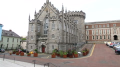 Lower Yard in Dublin Castle Stock Footage