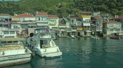 Anadolu Kavagi village Stock Footage