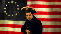 1776 soldier american america Stock Footage
