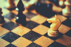 Chess Knight And Bishop Stock Photos